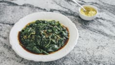 Spinach with Garlic Dressing